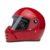 Casco moto integrale rosso