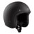 Casco nero jet helmet nero opaco omologato